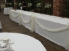 Simple Draped White Head Table
