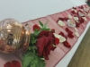 Simple Rose Petal Head Table Decoration