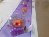 Purple & Orange Themed Head Table