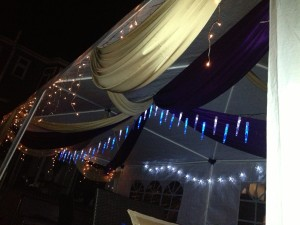 Marquee Draping with lights