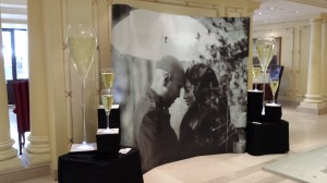 Personalised Champagne Display